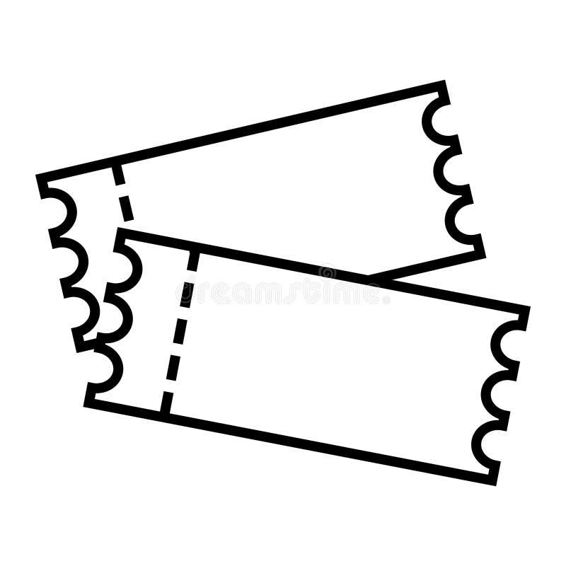戏院在平的样式的票象 承认在白色被隔绝的背景的一个优惠券入口传染媒介例证 票事务co 库存例证