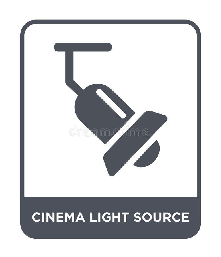 戏院在时髦设计样式的光源象 戏院在白色背景隔绝的光源象 戏院光源传染媒介 向量例证