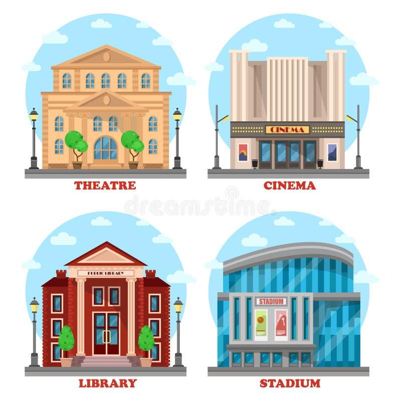 戏院大厦,图书馆建筑学 库存例证