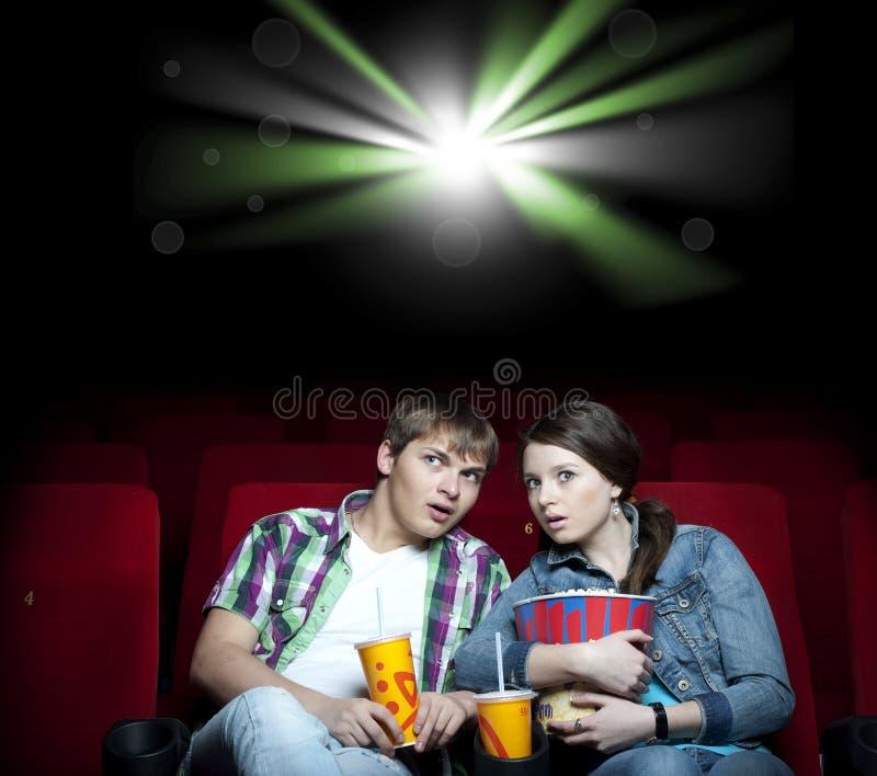戏院夫妇注意 免版税库存照片