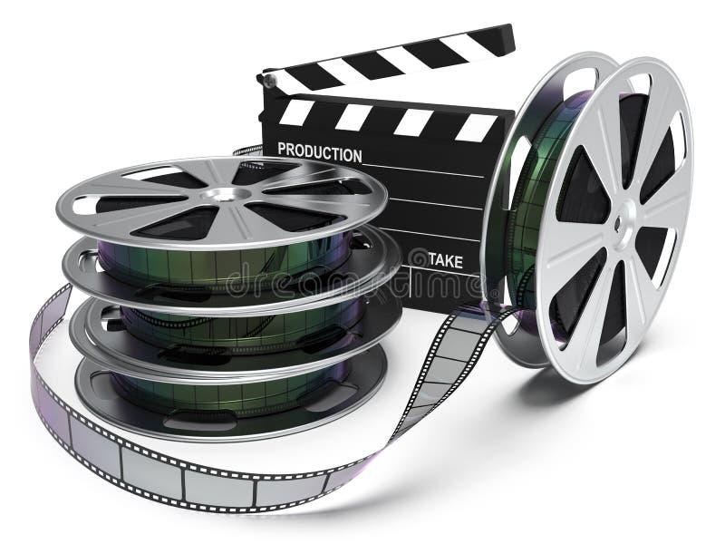 戏院娱乐影片轴 免版税库存照片