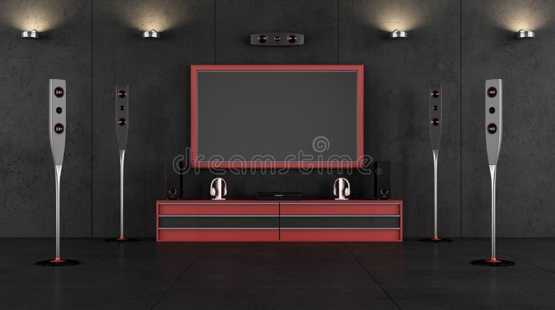 戏院室 向量例证
