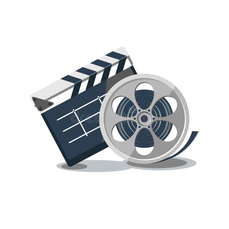 戏院录音象对象平电影的clapperboard 免版税库存图片