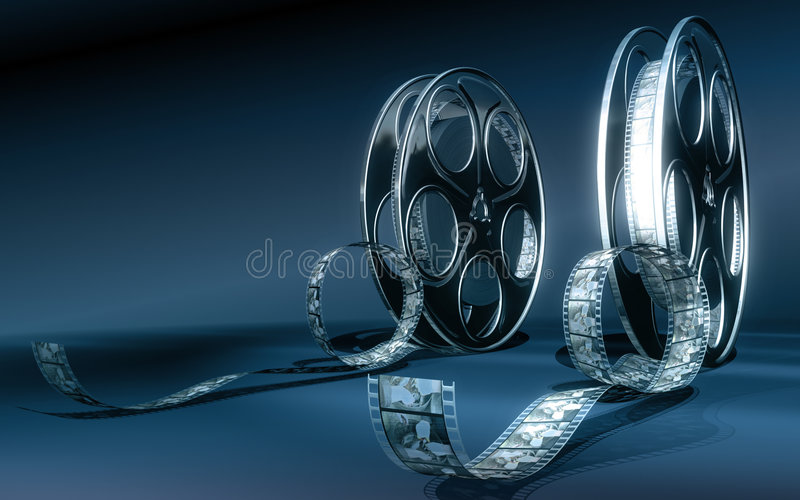 戏院影片 向量例证