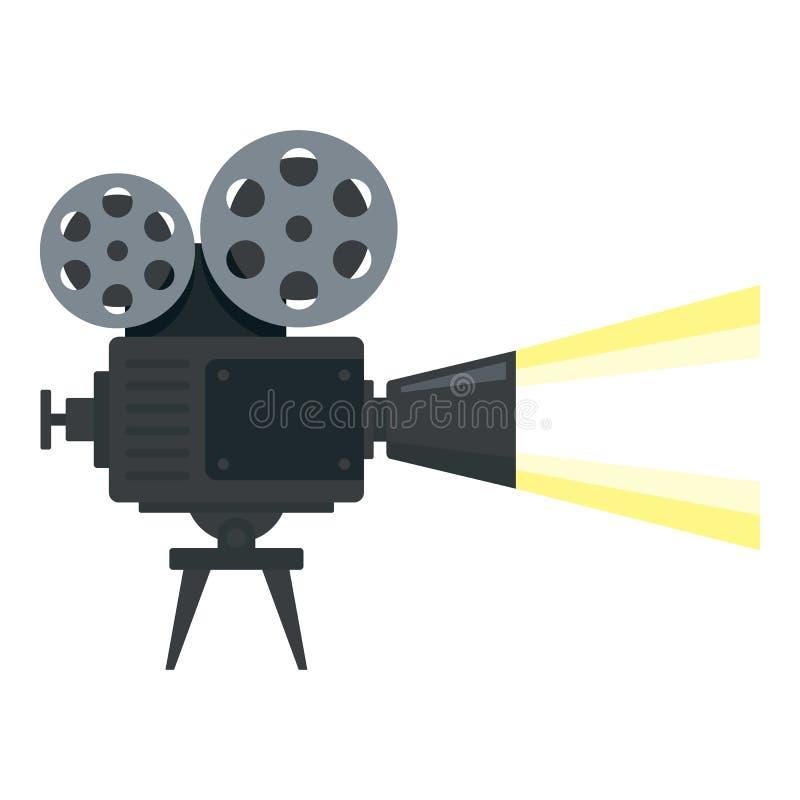 戏院照相机卷轴象,平的样式 向量例证
