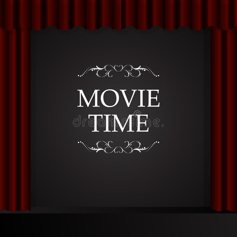 戏院电影放映时间 库存例证