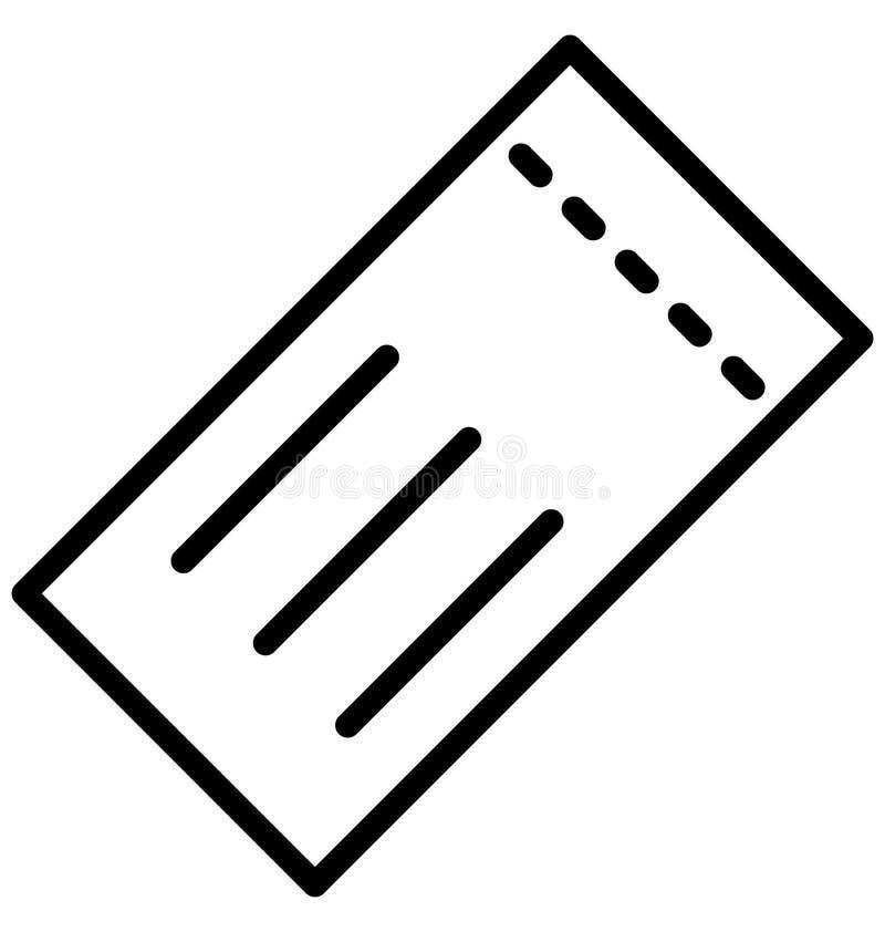 戏院票隔绝了可能容易地修改或编辑的传染媒介象 库存例证