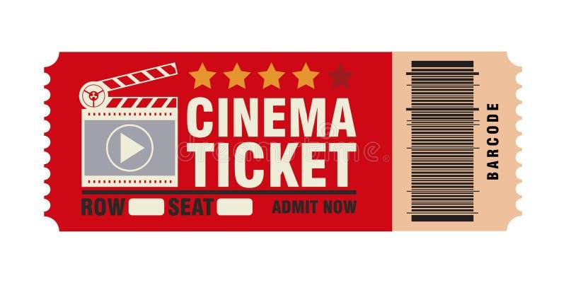 戏院票,跳观看电影,现实神色 库存例证