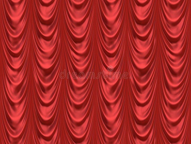 戏院窗帘红色剧院 皇族释放例证