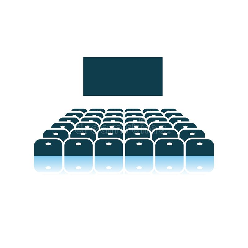 戏院观众席象 库存例证