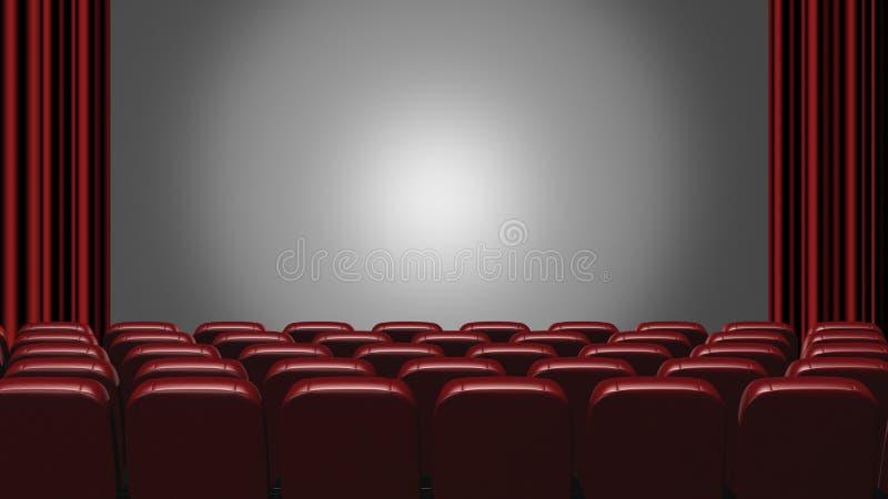 戏院观众席 皇族释放例证
