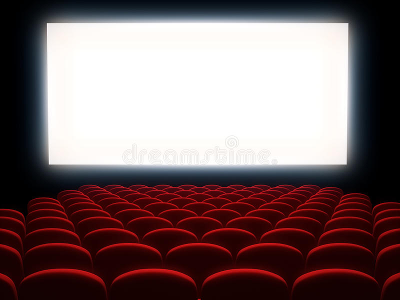 戏院观众席 库存例证