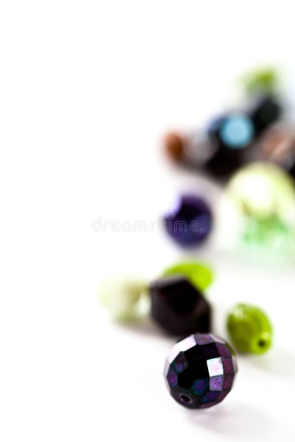 成串珠状五颜六色的玻璃 免版税图库摄影