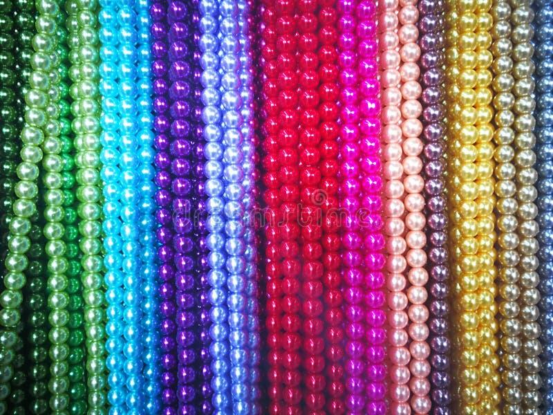 成串珠状五颜六色 图库摄影