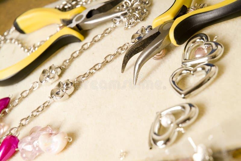 成串珠状工具#1 库存图片