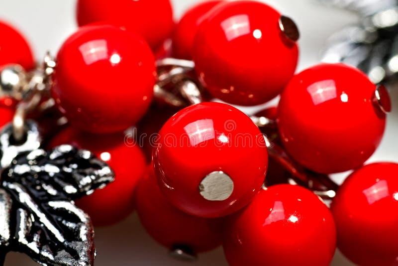 成串珠状红色 图库摄影