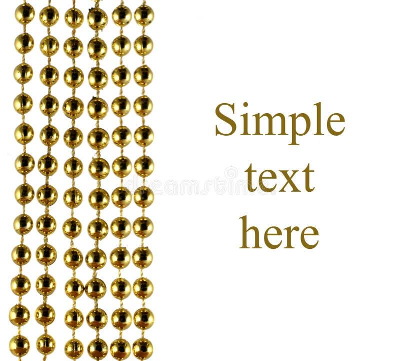 成串珠状金黄精采庆祝的颜色 向量例证