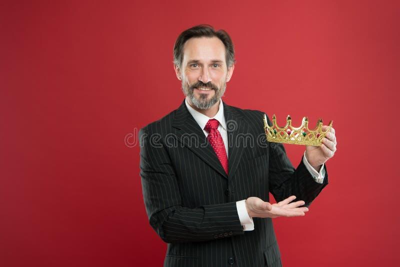 成为的国王仪式 奖和成就 感觉的优势 是优越人 君主制属性 君主制 免版税库存图片