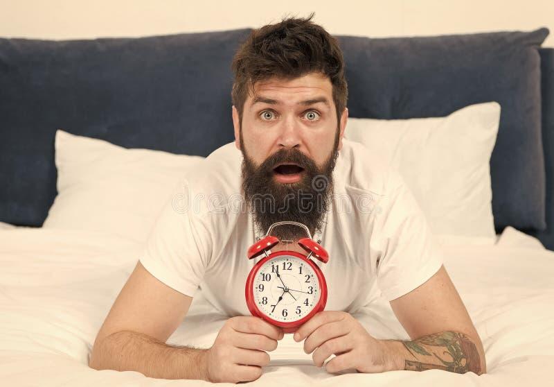 成为的技巧一个早期的造反者 问题的唤醒的清早 起来与闹钟 再睡过头 ?? 免版税图库摄影