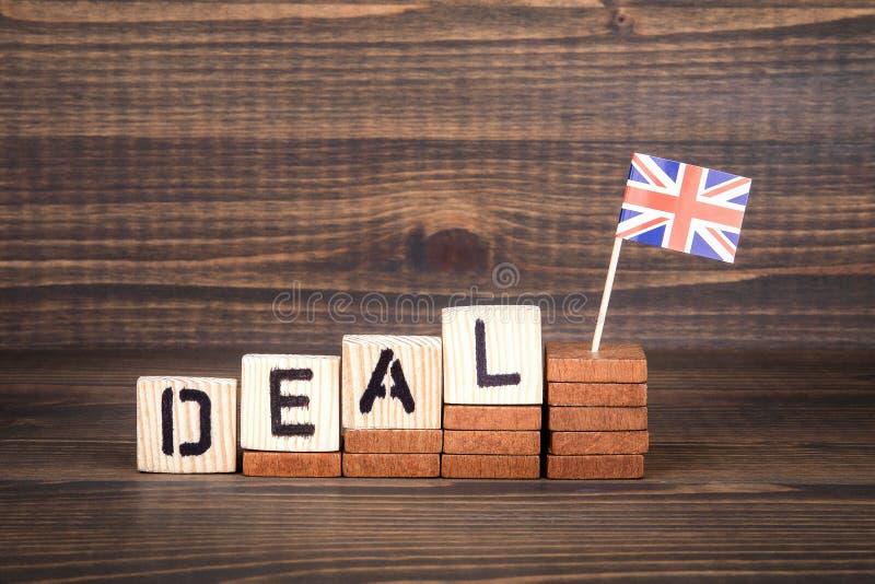 成交概念,英国和欧盟政策 免版税库存图片