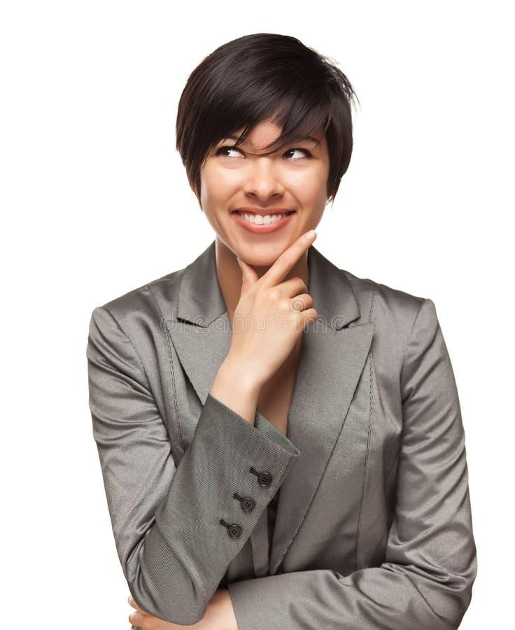 成人不同种族的微笑的白人妇女年轻&# 免版税库存图片