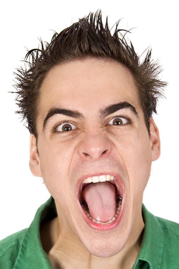 成人恼怒的非常年轻人 免版税图库摄影