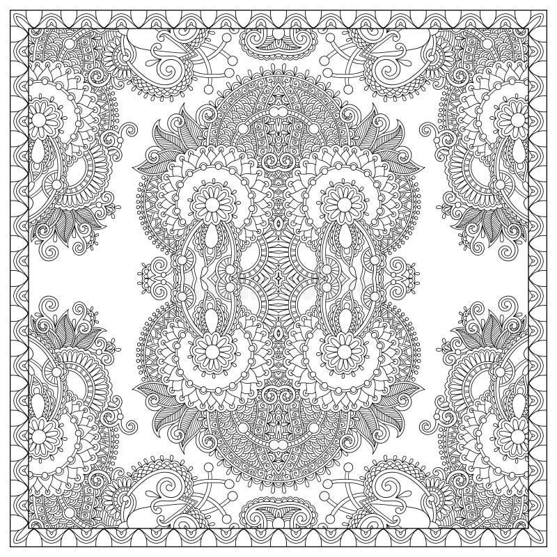 Download 成人的独特的彩图正方形页- 向量例证. 插画 包括有 原始, 花卉, 附庸风雅, 技艺家, 图象, 当代 - 62530346