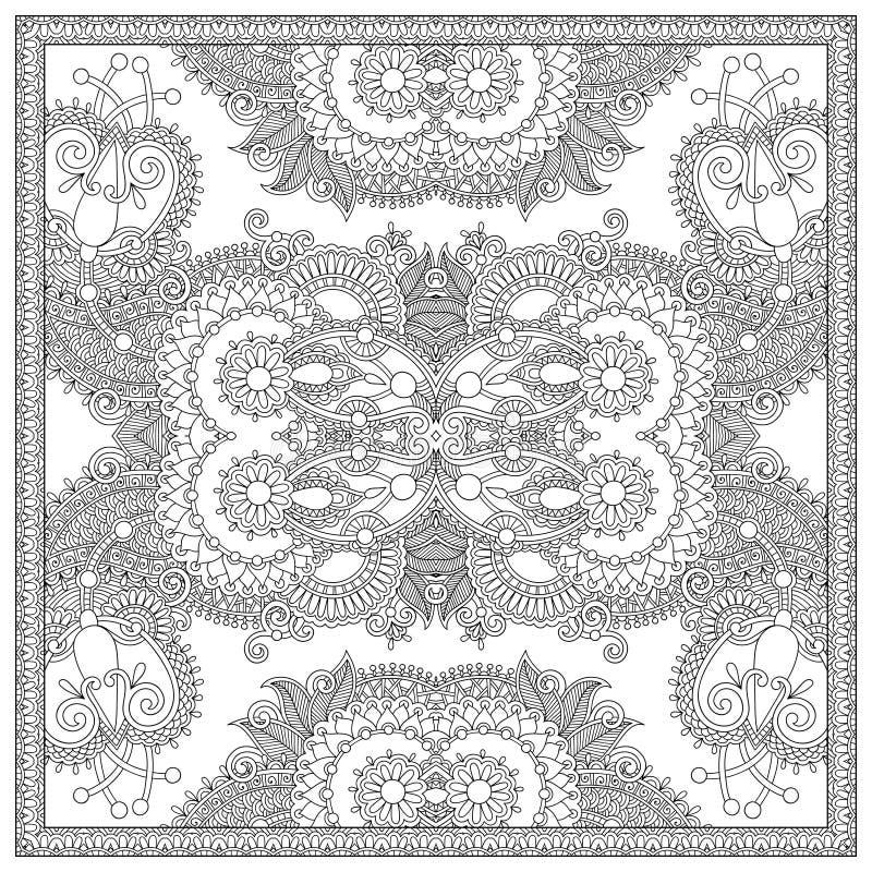 Download 成人的独特的彩图正方形页- 向量例证. 插画 包括有 技艺家, 颜色, 创建, 地毯, 花卉, 热情, 种族 - 62530362