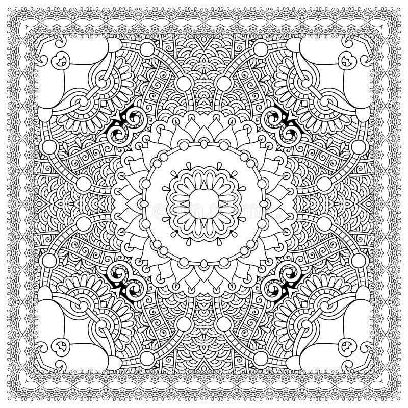 Download 成人的独特的彩图正方形页- 向量例证. 插画 包括有 附庸风雅, 创建, 颜色, 成人, 业余爱好, 艺术 - 62530463