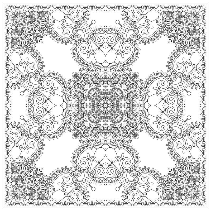 Download 成人的独特的彩图正方形页- 向量例证. 插画 包括有 颜色, 创建, 当代, 附庸风雅, 花卉, 技艺家 - 62534177