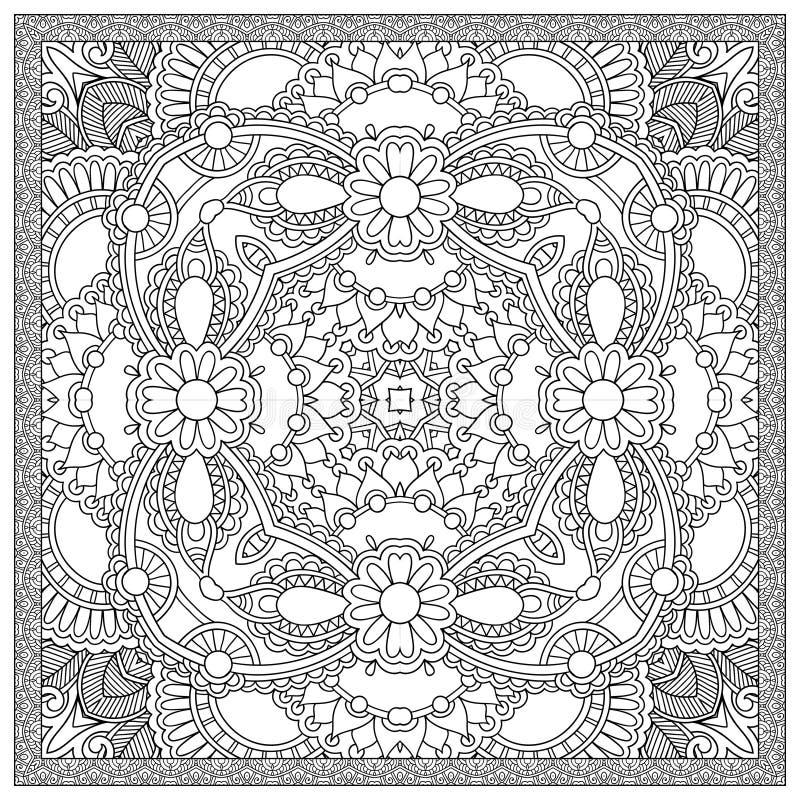 Download 成人的独特的彩图正方形页- 向量例证. 插画 包括有 艺术, 线路, 着色, 技艺家, 创造性, 当代, 装饰 - 62534227