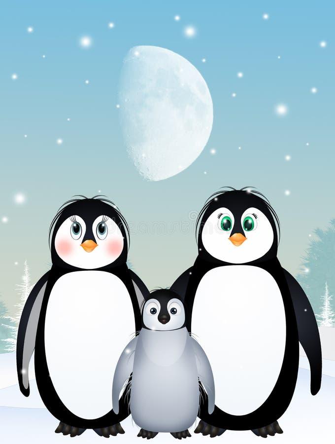 成人背景蓝色小鸡系列框架企鹅企鹅二 库存例证