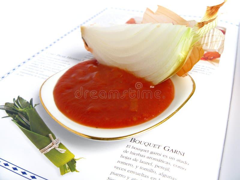 成份调味汁蕃茄 免版税图库摄影