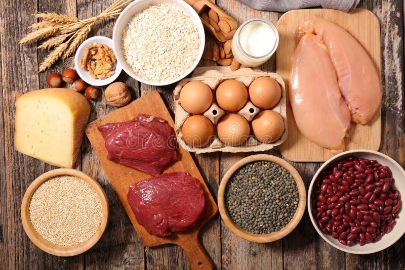 成份高在蛋白质 免版税库存照片