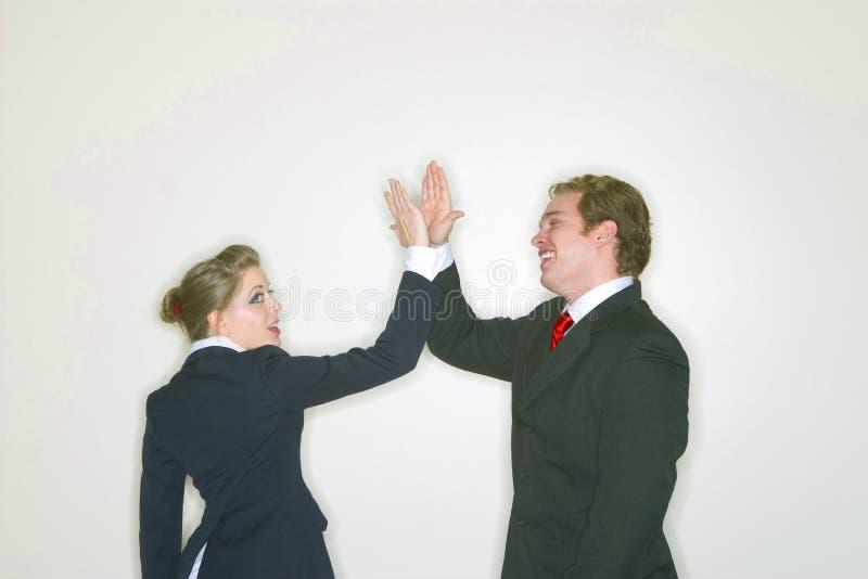 成功企业的夫妇 库存照片