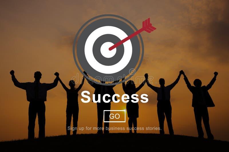 成功使命刺激主页概念 免版税库存照片