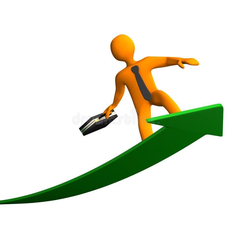 成功冲浪者 向量例证