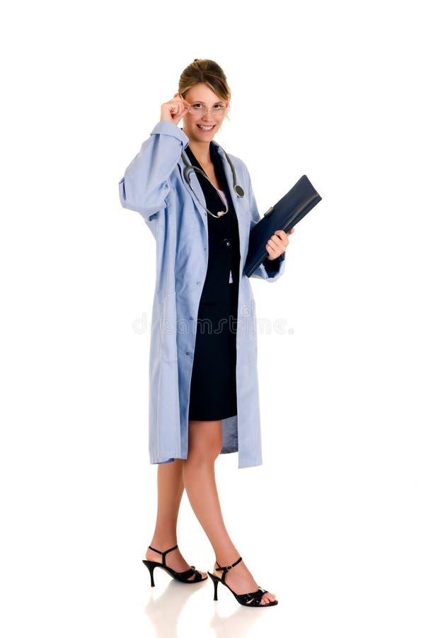 成功医生的女性 免版税库存照片
