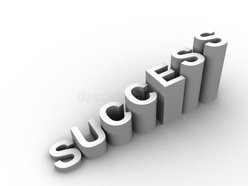 成功字 向量例证