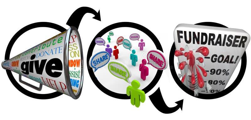 成功市场活动慈善筹款的步骤 向量例证
