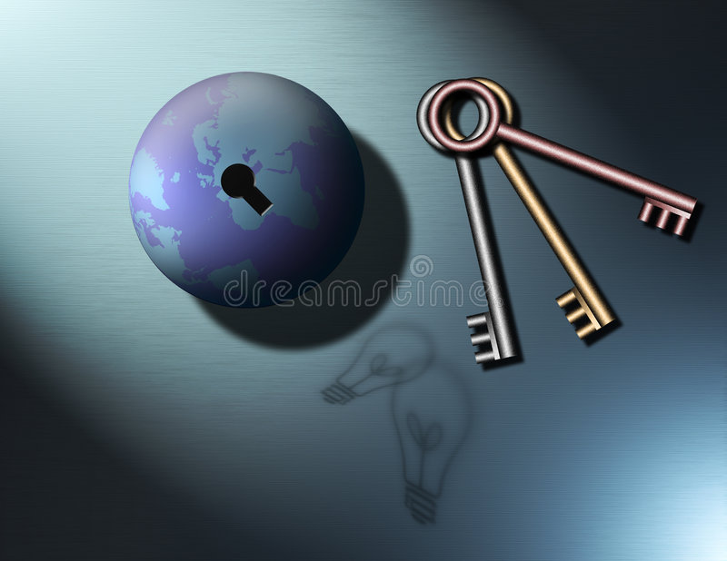 成功开锁 向量例证
