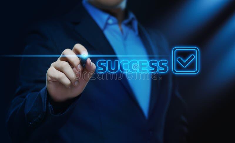 成功成就正面结果企业财务概念 免版税库存图片