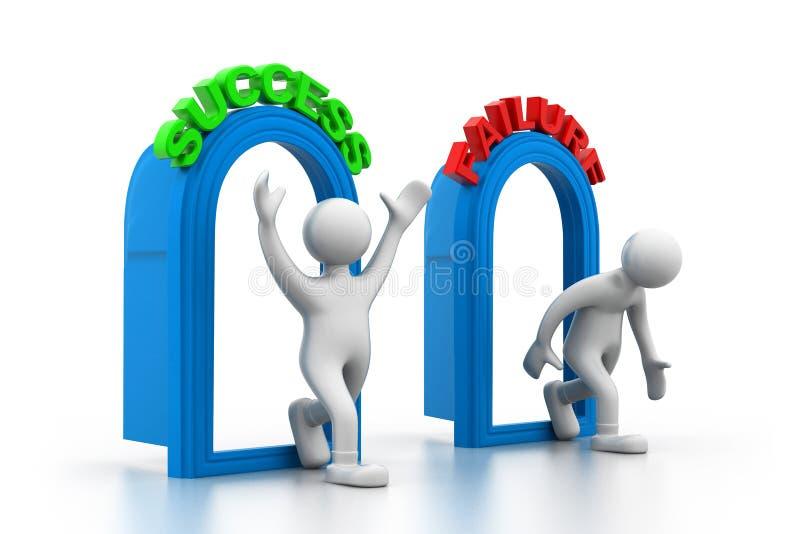 成功或失败概念 向量例证