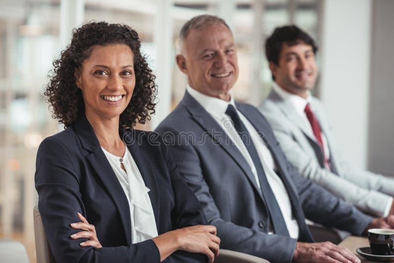 成功有这企业队微笑 免版税图库摄影