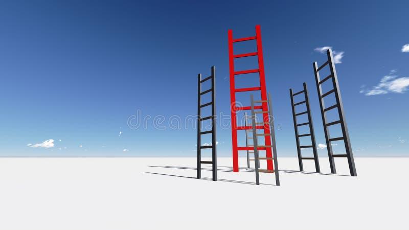 成功梯子  向量例证
