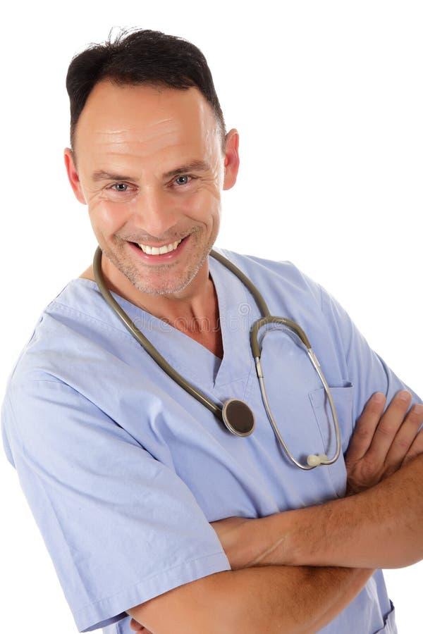 成功白种人医生的人 库存图片