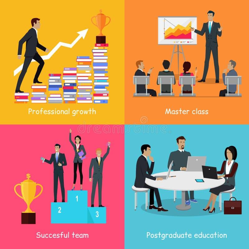 成功的人成长的教育Infographic 向量例证