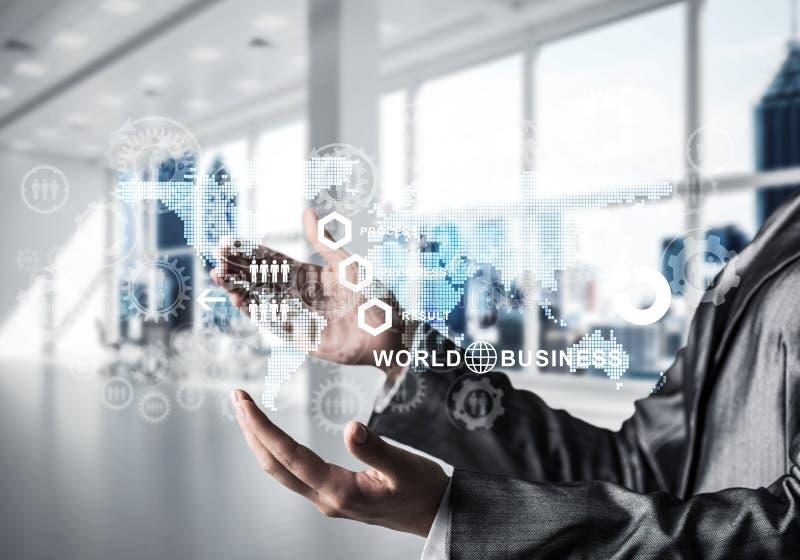成功的企业概念的现代技术 免版税库存图片