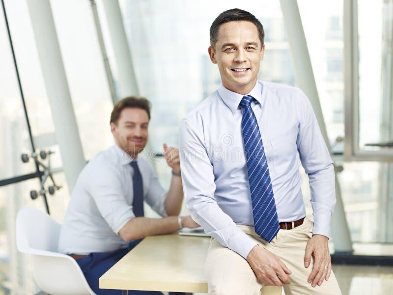 成功的公司商人 免版税图库摄影