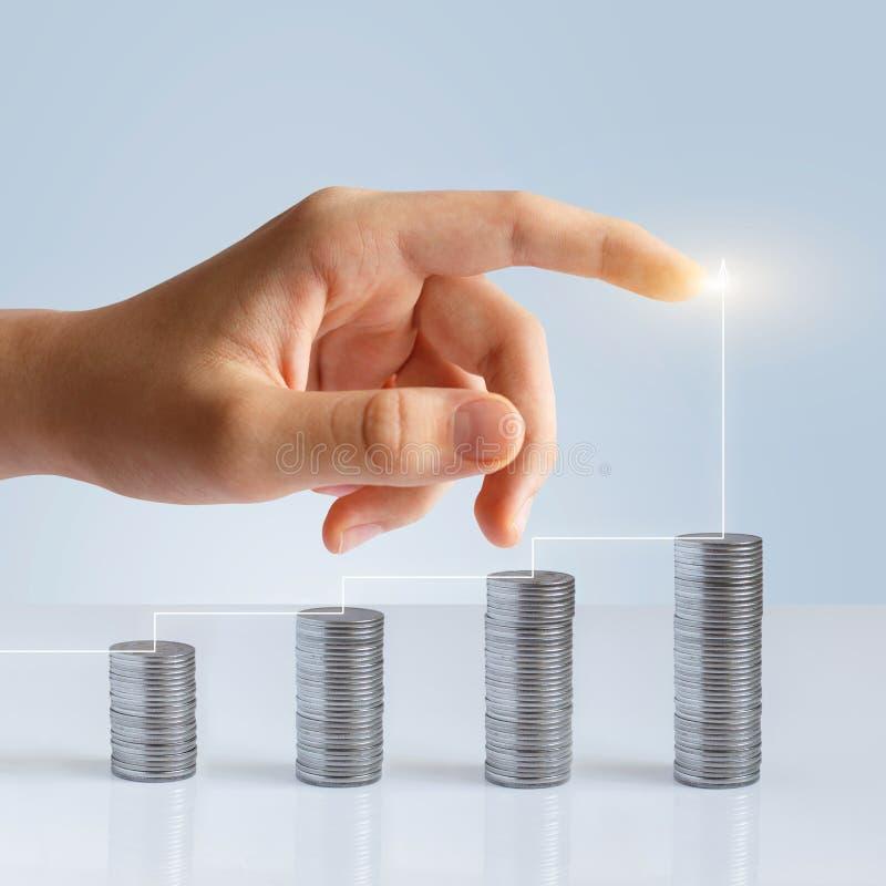 成功的利润增长和成功统计  免版税库存照片